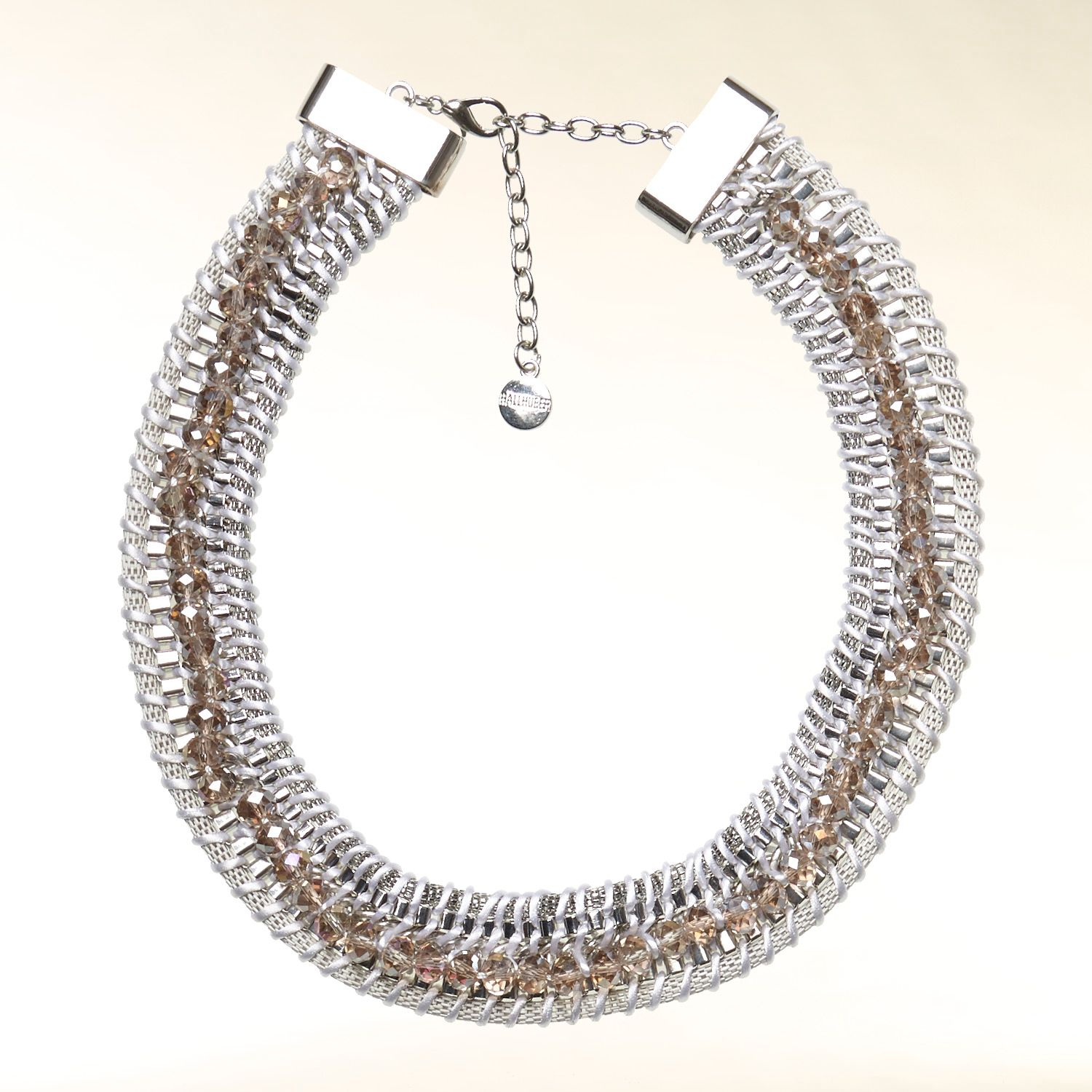 Chain and ribbon necklace