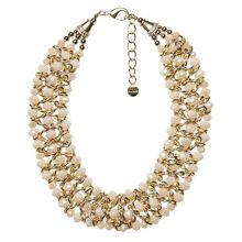 Peral and bead collar necklace