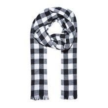Vichy gingham-check scarf