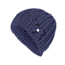 Knitted beanie with bow feature