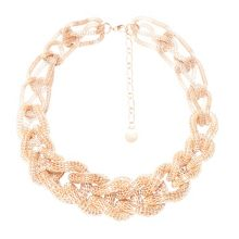 Collar necklace with braid effect
