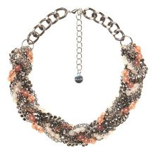 Statement necklace with braid effect