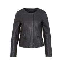 Raglan sleeve leather jacket