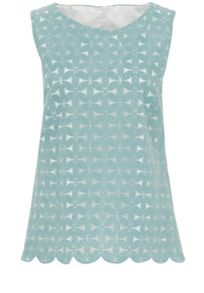 Organza top with star embroidery