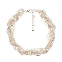 Multiple chain collar necklace