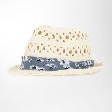 Perforated straw hat
