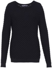Structured knit long jumper