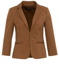 Blazer with 3/4 length sleeves