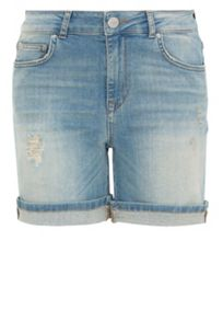 Denim high-waist shorts