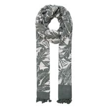 Woven goods palm print scarf