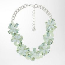 Statement necklace with floral gemstones