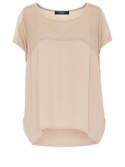 Viscose egg-shaped silk blend top