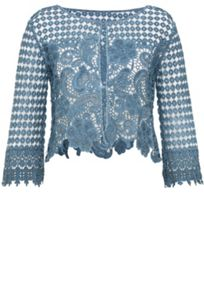 Lace jacket with three-quarter sleeves
