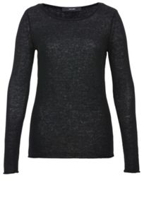 Fnie-knit cashmere pullover