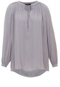 Flat woven fabric relaxed blouse