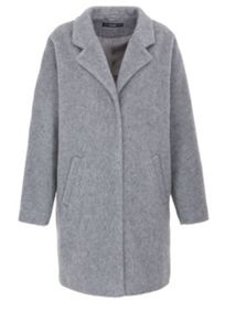 Flat woven fabric wool coat with lapels