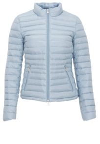 Two-way zipper down jacket