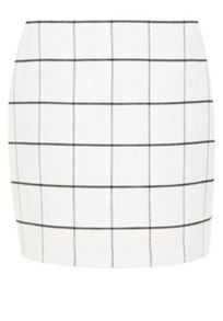 Flannel grid check mini skirt
