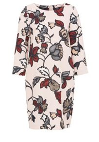 Hallhuber Floral print crepe dress