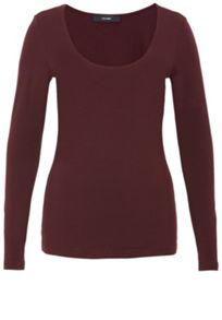 Hallhuber Jersey round neck long sleeve