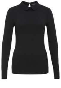 Viscose rounded collar top