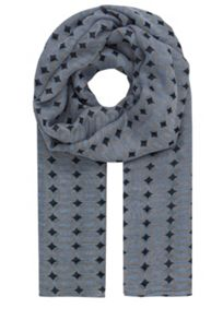 Woven goods scarf with graphic print