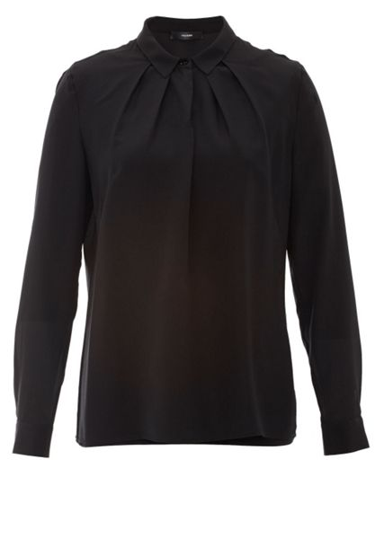 Hallhuber Pleated Silk Blouse