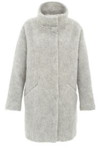 Longhair wool coat with hairy texture