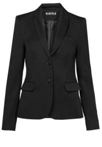 Hallhuber Flat woven fabric business blazer