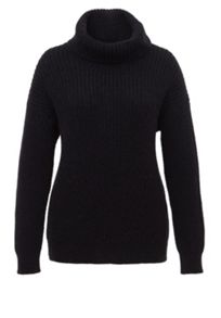 Brioche Stitch Roll-Neck Jumper