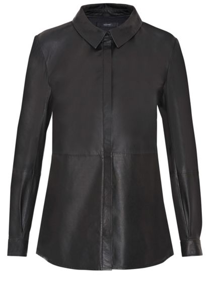 Hallhuber Leather leather shirt