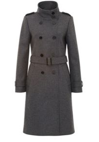 Woven fabric wool trench coat