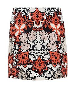 Hallhuber Floral Skirt With Retro Print