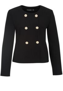 Hallhuber Crop Jacket With Metallic Buttons