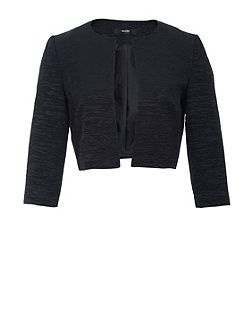 Hallhuber Rep Weave Crop Jacket