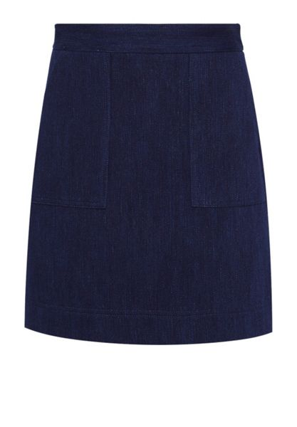 Hallhuber A-line denim skirt
