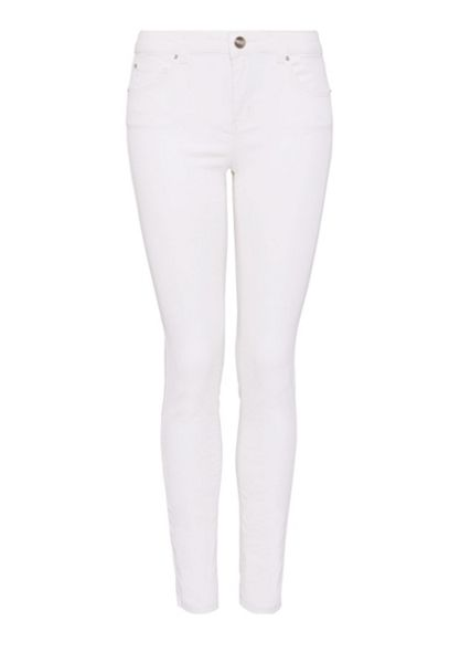 Hallhuber Cropped and coated skinny jeans