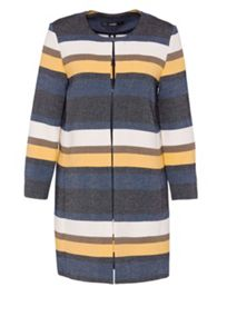 Hallhuber Striped crop coat