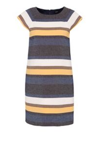 Hallhuber Striped dress with short sleeves