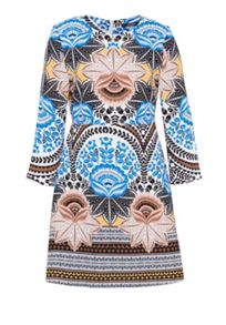 Hallhuber Three-quarter sleeve print dress