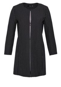 Hallhuber Crop coat made of polka dot jacquard