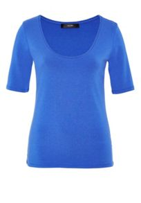 Hallhuber T-Shirt with Plunging Round Neckline