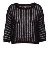 Hallhuber Eyelet Stitch Cropped Jumper