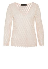 Hallhuber V-neck lace top