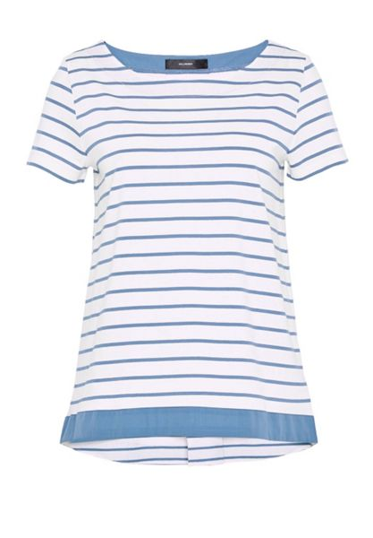 Hallhuber Striped top with back pleat