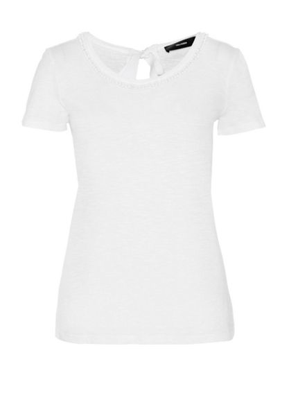 Hallhuber Top with grosgrain ribbon detail