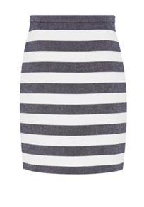 Hallhuber Block-stripe skirt