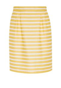 Hallhuber Pleated stripe skirt