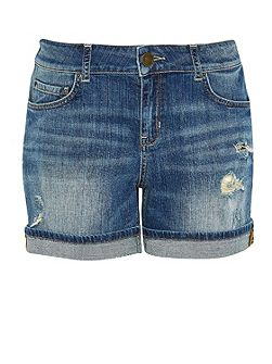 Sparkly denim shorts