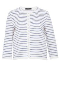 Hallhuber Fringed stripe jacket